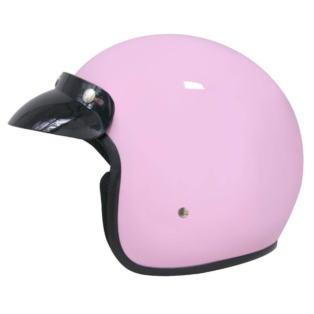 Pink XS Leopard LEO-604 Open Face Motorbike Helmet - Motorcycle ECE 2205 Approved 53-54cm