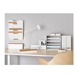 Ikea Kvissle 2 Pack White Magazine File Holder Rack Case Steel Metal Structure