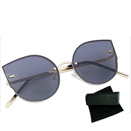 Alondra Kolt The Selna Oversize Rimless Cat Eye Sunglasses - Own Sunglasses Create Your