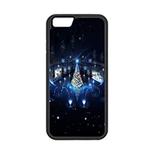 Blue Christmas Tree Lightning iPhone 6 Plus 5.5 Inch Cell Phone Case Black Protect your phone BVS_774301