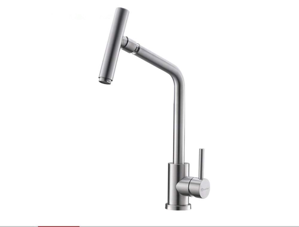 Kitchen Faucets Rotating Water 360 Degree Faucet Hot & Cold Water Kitchen Sink Faucet SUS304 Stainless Steel Brushed Nickel