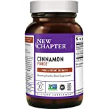New Chapter Cinnamon Supplement - Cinnamon Force for Blood Sugar Support + Antioxidant Action + Non-GMO Ingredients - 30 ct Vegetarian Capsules