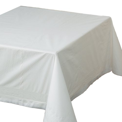 Hoffmaster 210066 Tissue/Poly Tablecovers, 72w x 72d, Whi...