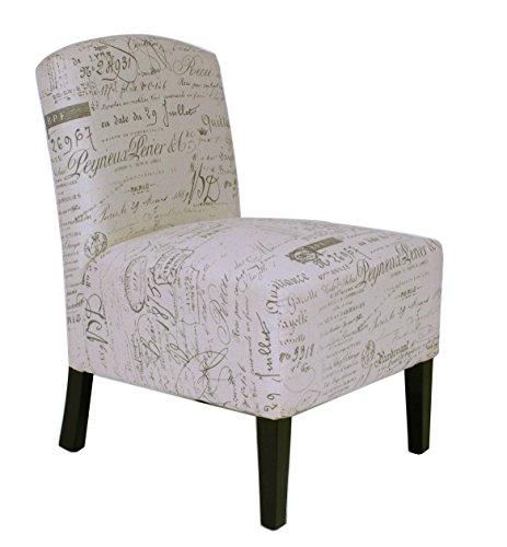 Roundhill Furniture Linen Circlesville Accent Chair, Beige