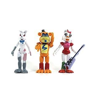 Anjinguang 5Pcs/Set At Fnaf'S Five Nights Pvc Action Figure Bonnie Foxy Toys 5 Fazbear Bear Doll Baby Toys