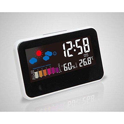 Shuangklei Reloj Despertador Digital Estación Meteorológica Reloj ...