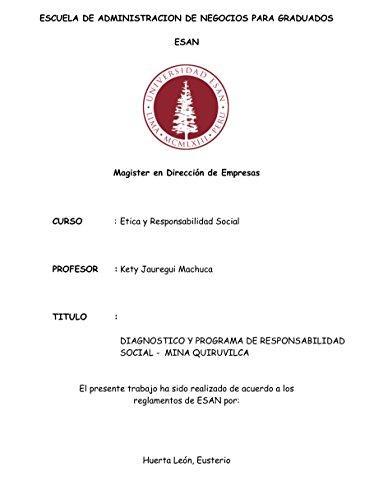 Descargar Libro Diagnostico Y Programa De Responsabilidad Social En Mineria Eusterio Valentín Huerta León