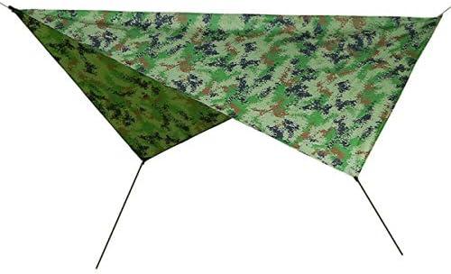 Ultralight Outdoor Camping Strandtent Zon Onderdak Zonnescherm Tarp Luifel Tuin Hangmat Luifel Wandelen Vloermat 210 x 150cmgroen