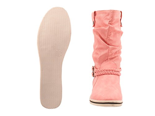 Elara - Botas Chelsea Mujer Rosa
