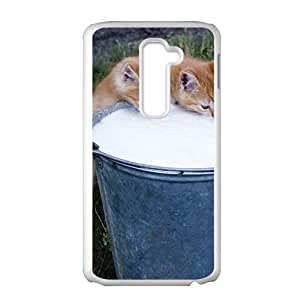 Cats Drinking Milk White Phone Case for LG G2