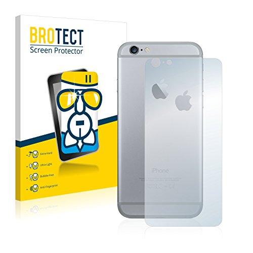 BROTECT AirGlass Pellicola Vetro Flessibile Chiaro per Apple iPhone 6S Plus Posteriore (totale + LogoCut) Proteggi Schermo, Vetro Protettivo - Extra-Resistente, Ultra-Leggero