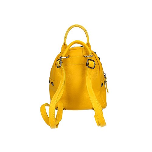 femme Jaune en à Aren in Sac Cm 17x20x11 Italy cuir Made dos véritable qAAtpw7Of