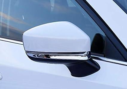 Momoap//New 2pcs Carbon Fiber Car Rearview Mirror Cover Trim Mirror Decorative Emblems for Tesla Model X 2017 2018 2019 2020