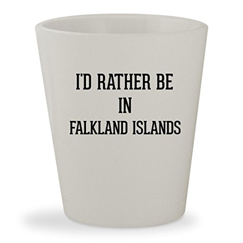 I'd Rather Be In FALKLAND ISLANDS - White Ceramic 1.5oz Shot Glass ()