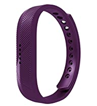 Fitbit Flex 2 Bands, EloBeth Replacement Silicone Sports Classic Fitness Accessories Wrist Band for Fitbit Flex 2 Band / Fitbit Flex2 Band, Flex 2 Bands Purple, No Tracker, Large