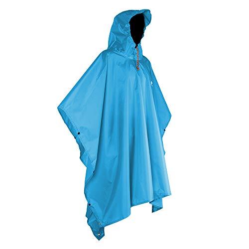 Anyoo Waterproof Rain Poncho Lightweight Reusable Hiking Hooded Coat Jacket for Outdoor Activities (Rain Coat Tall)