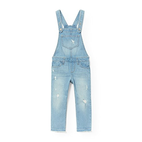 The Children's Place Big Girls' Destructed Overalls, Newmedwash 92230, 4 by The Children's Place