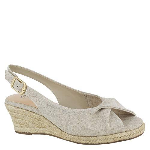 Bella Vita Women's Sylvie II Espadrille Sandal Shoe, Natural Linen, 5 M US
