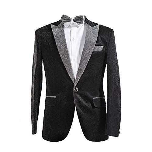 Classiche Ragazzi Schwarz Uomo Moda Blazer Tuxedo Da Glamorous Party Jacket Wedding Giacche Prom Suit 8BUxnw