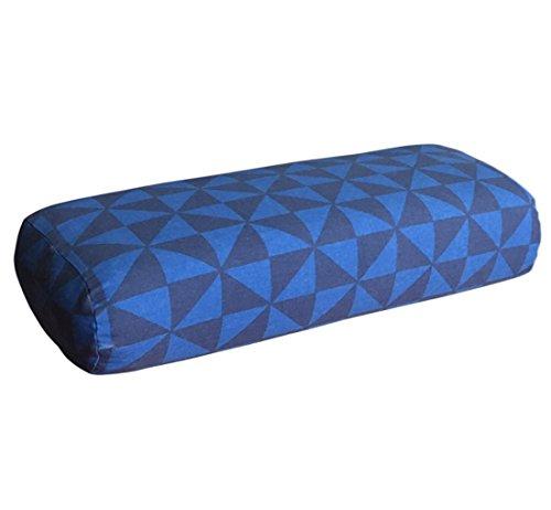EONSHINE Exquisite Fluffy Meditation Yoga Bolster Pillow, Polyester Overfilled Rectangular Back Supoort Cushion, Pack of 1 ()