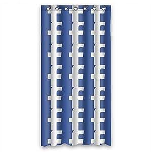 "48""x72"" 48x72 inch 120x180 cm bath curtain Machinewash polyester new Mildew Free Facebook Famous brand logo"