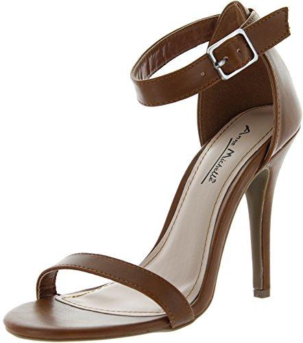 Anne Michelle Womens Enzo-01N Pumps Shoes,Chestnut,8