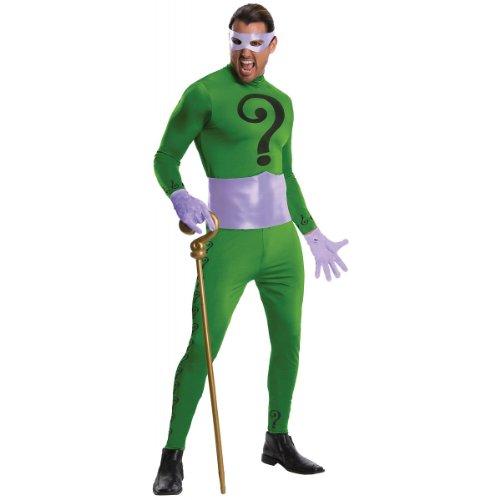 Rubie's Costume Grand Heritage Riddler Classic TV Batman Circa 1966, Green/Purple, Standard Costume - Color Purple Movie Costumes