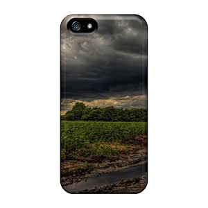 Premium Tpu A Storm Building Over Strawberry Fields Cover Skin For Iphone 5/5s