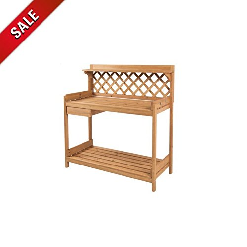 Work Bench Wood Table Outdoor Working Bench Lightweight Storage Outside Utility Garage Portable Home Standing Work Bench & eBook by AllTim3Shopping by ATS