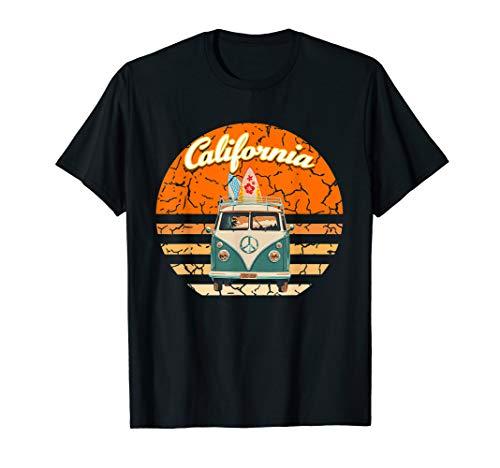 (Vintage California Hippie Van Summer Vacation  T-Shirt)