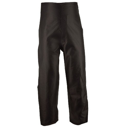 Brite Safety Style 5485 Black Rain Pants | Durable Waterproof Windproof Breathable | Nylon Oxford Fabric Rain Gear | For Men or Women (L)