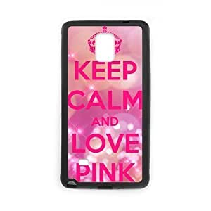 Diy Love Pink Colorful Custom Cover Phone Case for samsung galaxy note 4 Black Shell Phone [Pattern-5]