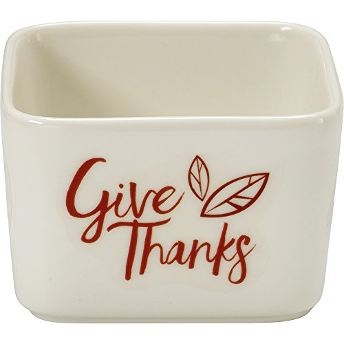 Celebrations by Precious Moments 171532 7 oz Give Thanks Fall Harvest Porcelain Appetizer and Dip Serving Bowl, 2.25-inches