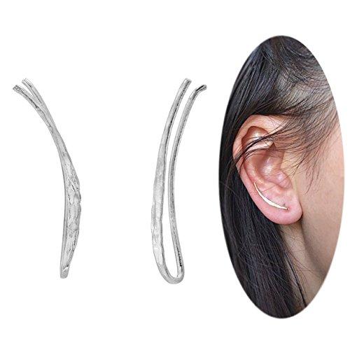(Ear Climber Crawler Cuff Earrings - 925 Sterling Silver)