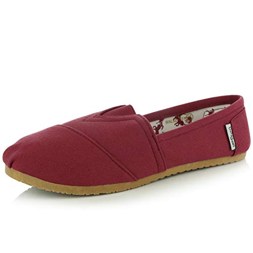 DailyShoes Women's Classics Flat Casual Flats Memory Cushion -Ultra Breathable Slip Resistant - Perfect Daily Shoes Slip-On Working Sneaker Shoes, Mahogany Linen, 6 B(M) ()