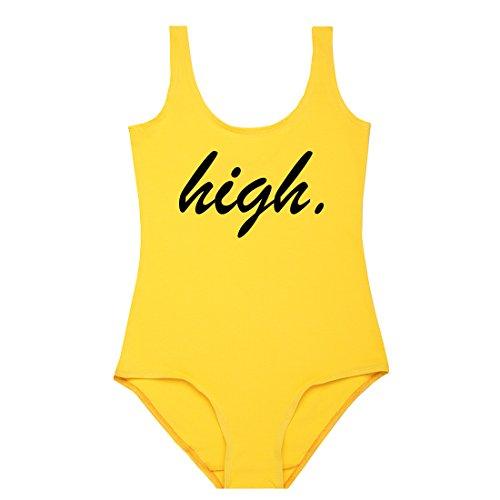 MINGA LONDON - Camiseta - Sin mangas - para mujer amarillo