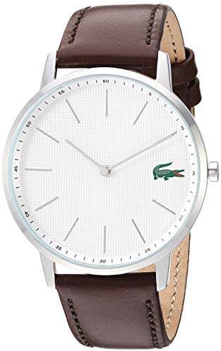Lacoste Men's Stainless Steel Quartz Watch with Leather Strap, Brown, 20 (Model: 2011002) 1
