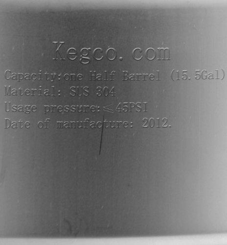 Kegco 15.5 Gallon (1/2 Barrel) Commercial Keg - Drop-In D System Sankey Valve