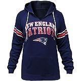 LockQ Womens Sporty Football Patriots V-Neck Sweatshirt Pullover Hoodie