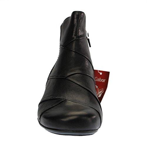 271871a054b7 ... SALE - GABOR comfort - Damen Stiefeletten - Schwarz Schuhe in  Übergrößen dFo4L4 ...