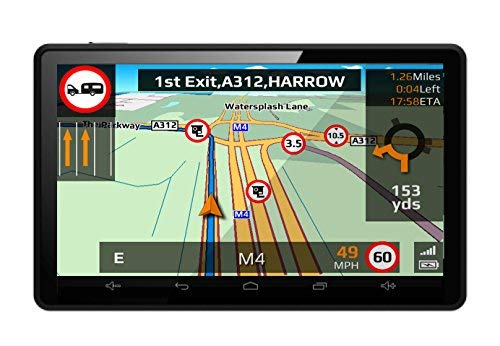 Aguri Motorhome & Caravan RV520 DVR 5' Motorhome and Caravan Sat Nav with Built-in Dash Cam, Wi-Fi and UK & European mapping.