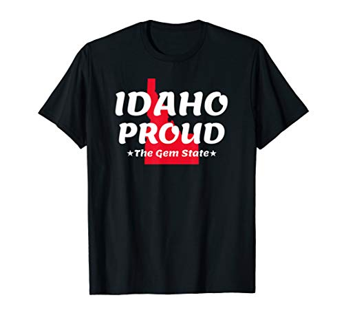 - Idaho Proud State Motto The Gem State T-Shirt