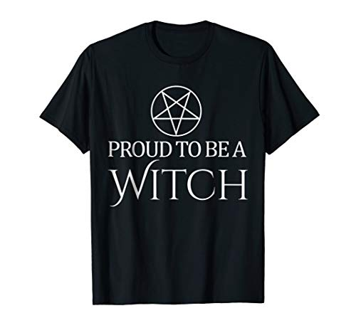 Proud to be a Witch Pagan Wiccan Pentagram Halloween T-Shirt]()