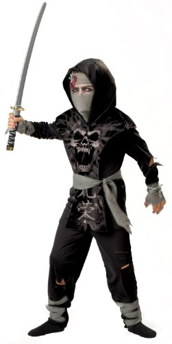 Dark Zombie Ninja Kids Halloween Costume