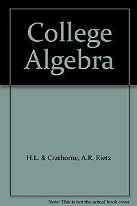 Hardcover College Algebra Book
