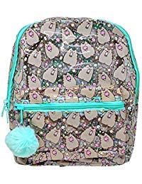 (Officially Licensed Pusheen Character All Over Popsicle Print PVC Mini Backpack)