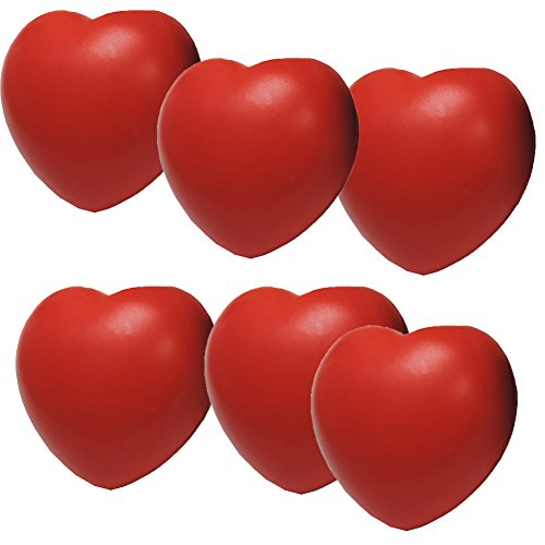 Heart Stress Balls - Stress Relief Squeezable Foam Heart Package