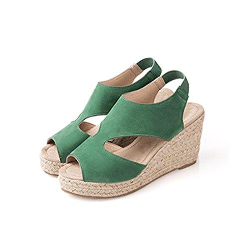JUMERRYSs006 - Zapatos con correa de tobillo mujer Verde