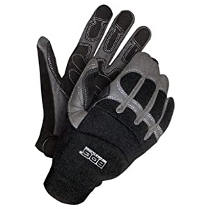 Bob Dale 20-1-10003-M Performance Rope/Rescue Glove with Synthetic Leather Palm, Medium, Black