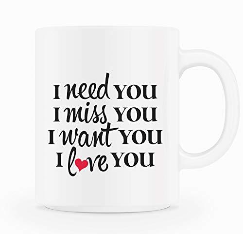 Valentine's Day Gift Coffee Mug Love Message Gift